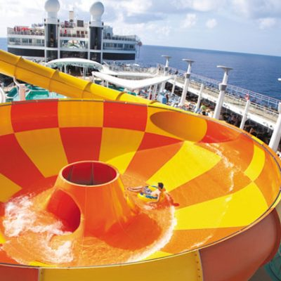 Aqua park on family cruise ship