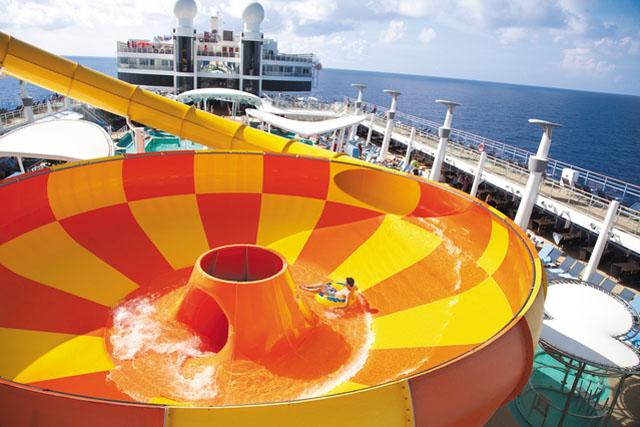 Aqua park on family cruise ship